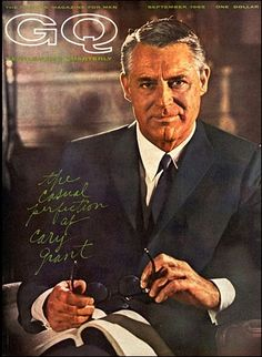 Cary Grant on the cover of GQ.