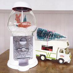 The kids are home from school. Christmas vacation has officially started! #yippee #christmasvacation ❤🎄🎁 . . . #vintagechristmas #farmhousechristmas #diyholiday #holidayprep #holidayproject #holidayhometour #diy #vintage #hgtv #gumballmachine #winnebago #tonka #vintagetoy #myholidaystyle #holidayhome #christmas #abmlifeiscolorful #abmholidayspirit #bottlebrushtree