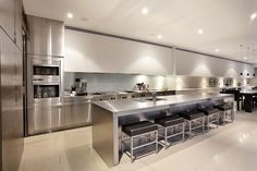 Scintillating Style is displayed by this beautifully finished Gaggenau and Miele kitchen with butlers pantry