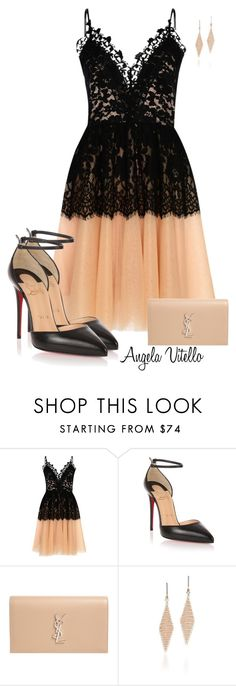 """""""Untitled #925"""" by angela-vitello on Polyvore featuring True Decadence, Christian Louboutin, Yves Saint Laurent and Tiffany & Co."""