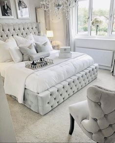 Bedroom Decor: Are You Currently Generating These Home Furniture Faults? Glam Bedroom, Bedroom Interior, Luxurious Bedrooms, Bedroom Furniture, Bedroom Inspirations, Silver Bedroom, Bed, Modern Bedroom, Bed Frame