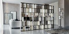 Cattelan Italia | interior design | arredamento salotto | arredamento studio | libreria | divisorio | libreria bifacciale | Roma | Explorer 1, Privacy Panels, Red Dot Design, Nautilus, Contemporary Decor, Design Awards, Home Decor Items, Shelving, Modern Furniture