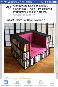DIY Bookshelf Chair Free Plan With Detailed Instructions Perfect For Book Worms