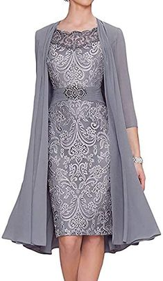 BridalAffair Chiffon Mother of The Bride Dresses Tea Length Two Pieces Formal Dress with Jacket Mother Of Bride Outfits, Mother Of Groom Dresses, Mothers Dresses, Mother Of The Bride Dresses Tea Length, Two Piece Formal Dresses, Two Piece Dress, Evening Gowns Online, Evening Dresses, Short Mothers Dress