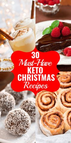 Keto Christmas Recipes The best low carb Christmas recipes for the feast of your dreams! Enjoy the holidays with the best Christmas food on the keto diet! From green beans to sugar cookies and eggnog, friends and families will love these keto Christmas Desserts Keto, Keto Snacks, Dessert Recipes, Dessert Ideas, Easy Desserts, Cake Recipes, Keto Cookies, Sugar Cookies, Keto Holiday