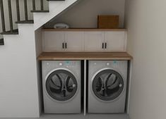 Good Washer Dryer In Kitchen #3   Laundry Room Under Stairs Part 83
