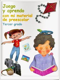 """""""Juego y aprendo con mi material de Preescolar. 3º Grado"""", equivalente a Educación Infantil de 5 años, es un libro de trabajo complementario a las enseñanzas de este nivel tratadas de forma interdisciplinar. Está editado por las autoridades educativas de México."""