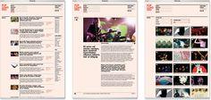 O Popload Gig é um pocket festival que apresenta bandas emergentes da cena rock e eletrônica nacional e internacional. O projeto gráfico do site valoriza as belas imagens dos artistas e shows, apoiadas pelo uso de tipografia pesada. A estrutura racional porém assimétrica de composição dos conteúdos garantem dinamismo às páginas.
