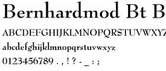 BernhardMod BT Bold font