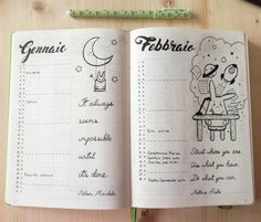 My monthly view on Bullet Journal. La mia visione mensile. #monthlyview #BulletJournal