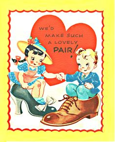 pair of shoes 1940s Valentine