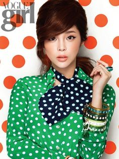 "thewhoreticulturist: "" Vogue Girl M.C Cosmetics Park Si Yeon "" Polka Dot Scarf, Polka Dots, Dots Fashion, Fashion Outfits, Girls Mac, Winter Typ, Glamour, Dot Dress, Passion For Fashion"
