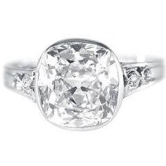 Edwardian J.E. Caldwell Diamond Platinum Engagement Ring