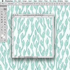 Learn how to make a hand-drawn repeating pattern tile (for fabric, gift wrap, etc.) using Photoshop.