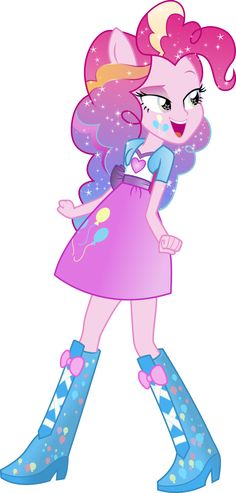 Equestria Girls: Pinkie Pie Rainbowfied by TheShadowStone on deviantART