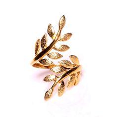 $165 Olive Tree Ring - Vermeil  Adjustable (10041) by Eddera