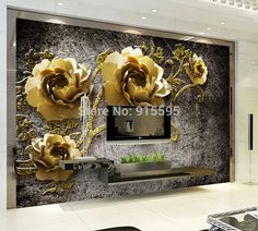 Wallpaper 3D Bedroom Mural Roll Modern Luxury Flowers Background Art Wall