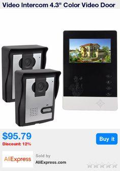"Video Intercom 4.3"" Color Video Door Phone Doorbell Intercom Kit IR Night Vision Camera Monitor For Villa Home Security F4360A * Pub Date: 08:18 Jul 5 2017"