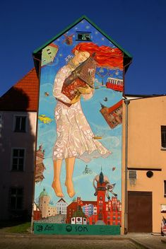(*) Poland, Slusk, street-art Alex Menukhov and K*