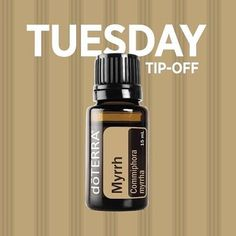 Tuesday Tip Off:  Though it isn't a potent floral or citrus essential oil, Myrrh oil is still considered a popular choice for diffusion.  Try diffusing Myrrh oil when you feel like tension levels are high to promote emotional balance and well-being. You c