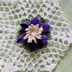 Clematis Snowflake - free crochet pattern from Snowcatcher.