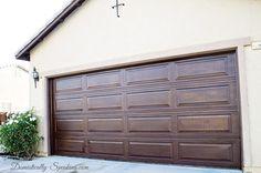 Great blog on building your own traditional carriage style garage garage door update with stain garage door updatediy solutioingenieria Image collections