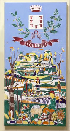 Beautiful reproduction painting of tile art in Fornelli.  Custom Made Custom Paintings And Collages