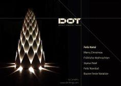 :: Christmas Lighting Tree CardBoard :: by ww.camafiro.com  and www.dot-things.com :: made with CardBoard & Light ::