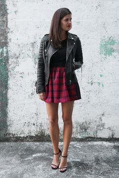Two tone Tartan Skirt