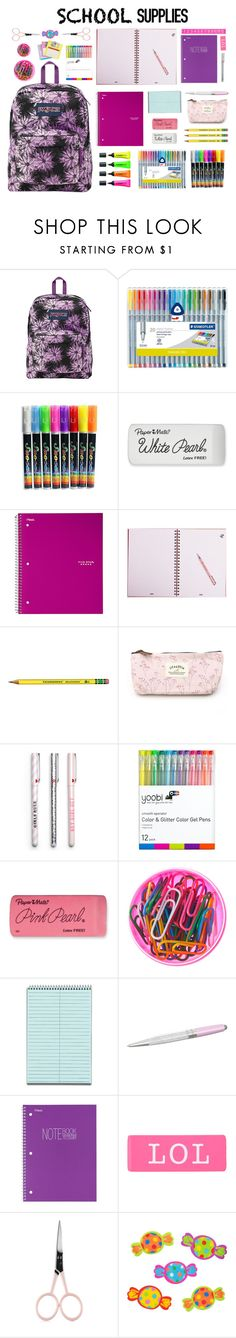"""#58 Back To School Supplies (4)"" by konstantina00085 ❤ liked on Polyvore featuring interior, interiors, interior design, home, home decor, interior decorating, JanSport, Stabilo, Paper Mate and Yoobi"