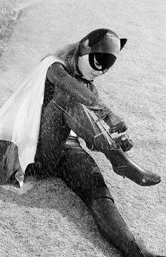 The Funny Feline Felonies' - Airdate December (Photo by ABC Photo… Batman And Batgirl, Batman 1966, Batgirl Pictures, Batman Room, Cybill Shepherd, Yvonne Craig, Batman Tv Series, Abc Photo, Eartha Kitt