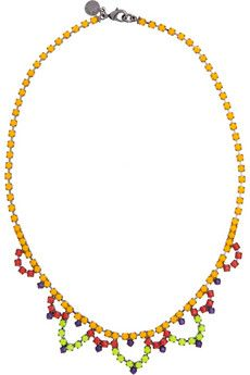 Tom Binns strikes again: another perfect summer necklace. imagine it with a little white tank or breezy sundress. (yes, I'm basically justifying the purchase) Swarovski Crystal Necklace, Swarovski Crystals, Beaded Necklace, Champagne Color Dress, Jewelry Box, Jewelery, Tom Binns, Summer Necklace, Little White