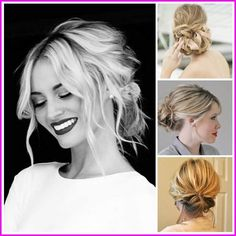 60 Creative Short Hair Updos, Have you ever struggled to learn some updos for short hair? With so many gorgeous updo ideas available online, the strong majority are for long hair. Short Hair Updo, Braids For Medium Length Hair, Wedding Hairstyles For Medium Hair, Braided Bun Hairstyles, Medium Long Hair, Medium Hair Styles, Braided Hairstyles, Short Hair Styles, Simple Hairstyles