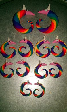 Lady Princess Rainicorn plugs earrings 8g1/2in nurdy by Pyroteeze, $8.00    CUTEEEE!