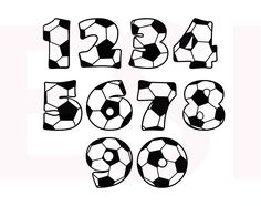 Soccer SVG DXF EPS cutting files for use in por ESIdesignsdigital