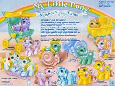 My Little Pony Newborn Twins Backcard