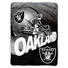 Oakland Raiders NFL Micro Raschel Blanket (Bevel Series) (80x60)
