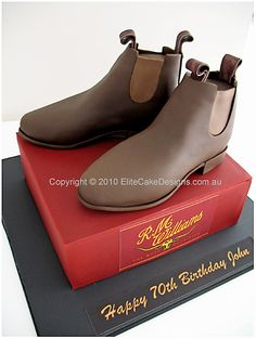 R.M Williams Boots novelty cake