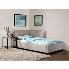 Sofa Sleeper Convertible Twin Bed Tufted Futon Couch Dorm Furniture Full Chaise