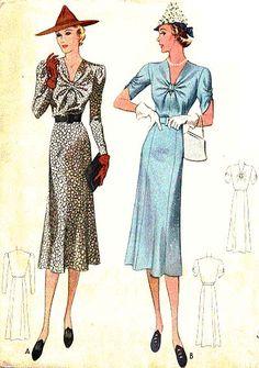 McCall 9625 | 1938 Ladies' & Misses' Dress