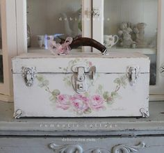 SOLD. Vintage Roses Keepsake Box by Debi Coules  Available at www.debicoules.com
