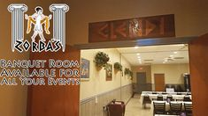 If you need a space for your next event, we also have a large banquet room you can reserve! zorbasgreekfood.com   (407) 915-6082