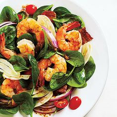 Fennel and Spinach Salad with Shrimp and Balsamic Vinaigrette by Cooking Light