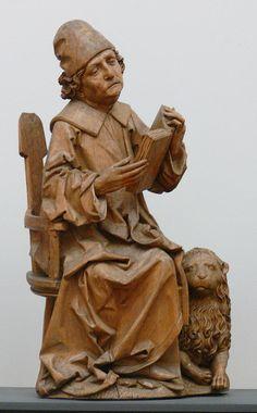 Riemenschneider Evangelisten Markus - Category:Münnerstädter Altar - Wikimedia Commons