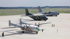 """<p>Gemeinsam werden die drei Transportflugzeuge Nord Noratlas, Transall C-160 und Airbus A400M im Rahmen des Flugprogramms am """"Drei-Generationen-Flug"""" teilnehmen.</p><p>Quelle: Bundeswehr/Gohla</p>"""
