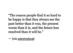 Why people find it hard to be happy.
