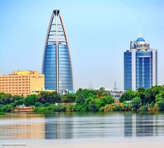 Towers & Nature, Khartoum أبراج و الطبيعة، الخرطوم #السودان (By Ayman Hassan) #sudan #khartoum #nile #capital #towers