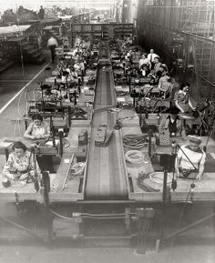 curtis wright wwii | Women at work in the Curtiss-Wright factory, 1943 | Flickr - Photo ...