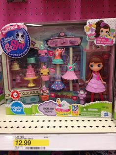 Littlest pet shop with doll and animals