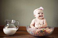 picture of baby with mom's main pregnancy craving, cute idea!